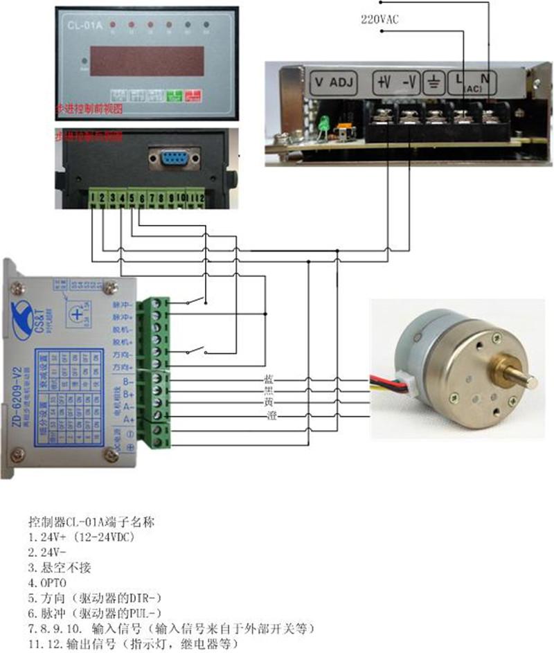 35减速步进电机驱动电路接线图cl-01a(sq)