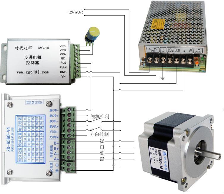 最简单步进电机控制器的接线方法