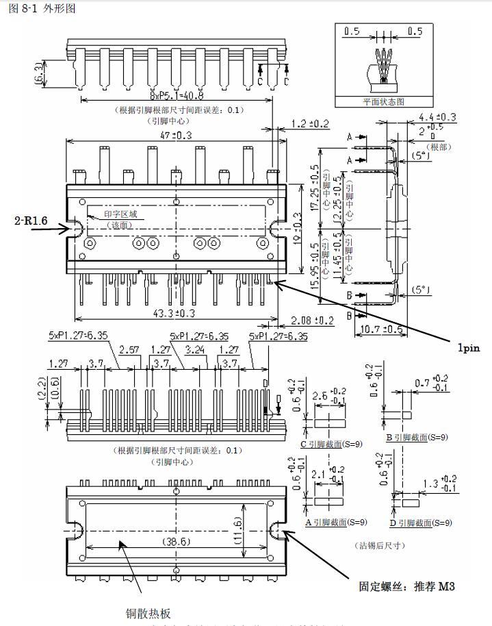 直流无刷带霍尔驱动芯片三肯大电流scm6716m无刷电机驱动器芯片(ssz)