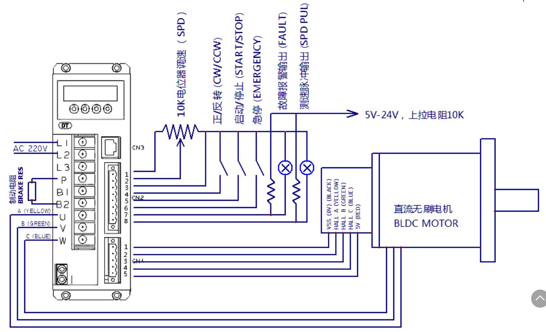 80直流无刷电机马达主轴高压控制驱动器7206 驱动6a交流220v带霍尔