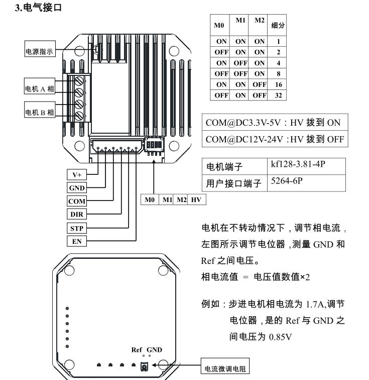 42步进电机驱动器模块一体化驱动微小型步进驱动zd-m42p带散热(ssz)