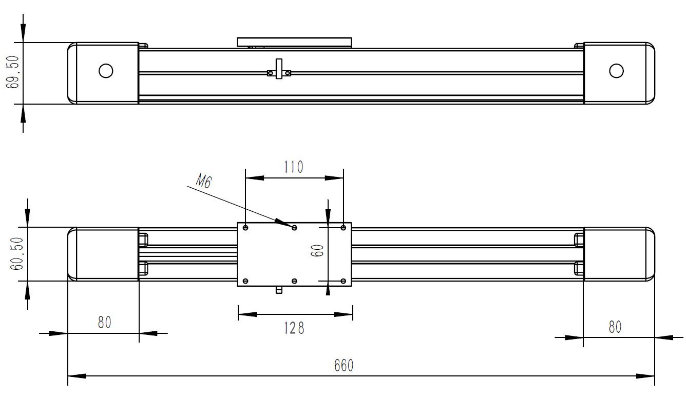高速自动喷枪设计用密闭同步带导轨滑台及电机的选用方案 LP