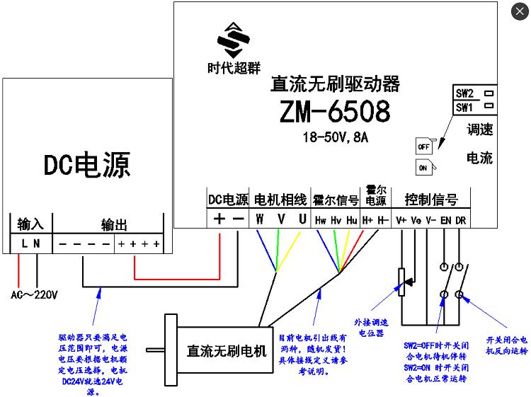 750w大功率直流无刷电机配套推荐(lkd)