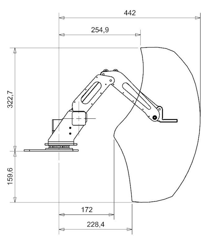 机械臂各部件结构如下
