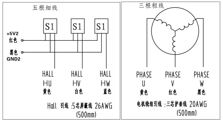 300w高压直流无刷电机与驱动器zm-7205a控制原理及接线示意图(lp)